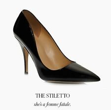 KATE SPADE 'LICORICE' Classic Pointed Pumps Heels Black Leather sz 5, 9.5, 10