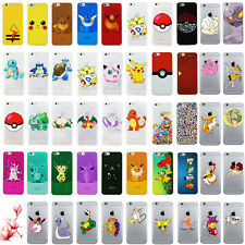 For iPhone Case Cover Transparent  Pokemon GO Pikachu Collection Funny  Design