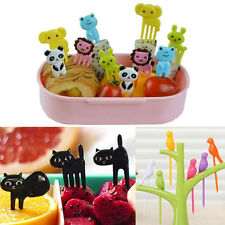 1 set Tree Shape Forks Fork Holder Rack Home Decor Bird Fruit Snack Dessert Fork