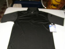 Rothco Black Polo LARGE Tactical Performance Moisture Wicking Shirt  3912