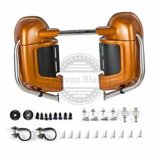 Amber Wiskey Lower Vented Fairings Harley Touring Electra Glide Speaker Pods M