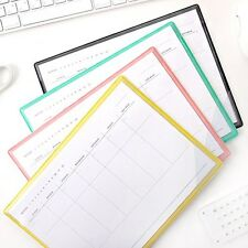 Weekly Scheduler Memo Pad Planner Organizer / Mouse Pad 28 Weekly Plans Undated