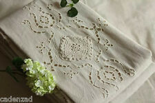 Predestination: Vintage Rustic Cotton Cutwork Hand Crochet Lace Curtains, Drapes