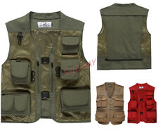 Mens Army Outdoor Jacket  Camouflage Fishing Hunting Camping Photography Vest