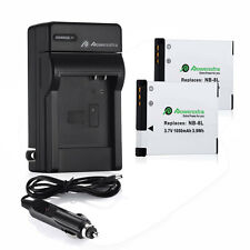 NB-8L NB8L Battery +Charger for CANON PowerShot A2200 A3000 A3100 A3200 A3300 IS