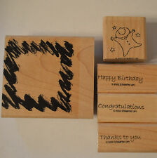 Stampin Up All Occasions Wood Mounted Rubber Stamps Choose One
