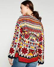 Zara Hand Embroidered Beaded Ethnic Patterned Jacket Blazer S M L BNWT