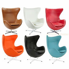 ikea lomsk swivel egg chair red orange hood ebay. Black Bedroom Furniture Sets. Home Design Ideas