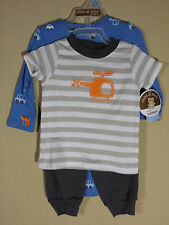 *NWT- CARTER'S - 3-6M INFANT BOY'S 3-PC TRANSPORTATION PRINT OUTFIT SET