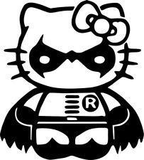 Hello Kitty - Robin - Batman - Vinyl Car Window and Laptop Decal Sticker