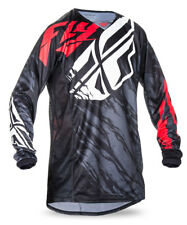 FLY RACING MX MTB BMX Kids 2017 Kinetic RELAPSE Jersey (Black/Red) Choose Size