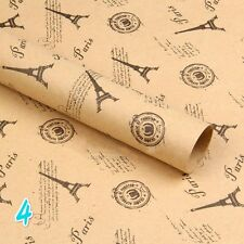 """6 X Wrapping Papers Present Wrap Double Sided Festival Kraft Paper 29.5"""" X 20.5"""""""