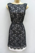 bnwt coast emeline black lace cocktail evening bridesmaid wedding dress rrp £135