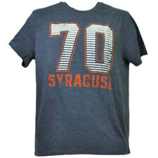 NCAA Syracuse Orange Felt 70 Tshirt Tee Mens Blue Short Sleeve Crew Neck Sports