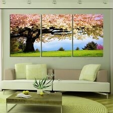 Green Tree Romantic Home Decor Art Painting Modern Picture Oil Canvas No Frame