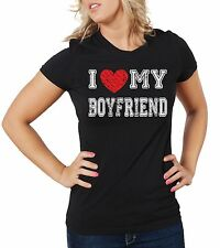I love my Boyfriend Woman's fitted T-shirt Gift for Girlfriend Tee shirt