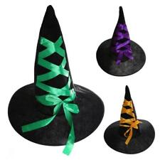 Adult Black Witch Hat For Halloween Costume Accessory Women Disfraces