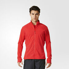 Adidas Supernova Storm Mens Red Climalite Long Sleeve Running Jacket Top