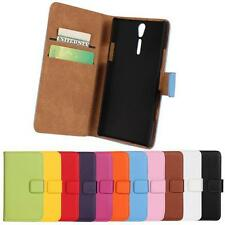 For Sony experia S LT26i magnetic Genuine Leather slot wallet Cover stand Case