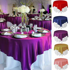 S&S LINENS MIAMI Square Satin Tablecloth 54 x 54 inches