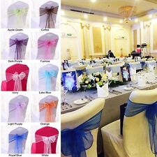 50 Pcs/Lot New Organza Chair Cover Sashes Wedding Party Banquet Bow Decorations