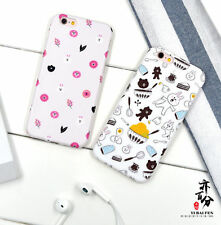 For iPhone 6 6S 6 Plus Lovely Bear Brown Bunny Cony Line friends Cute Soft case