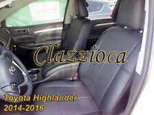 2014-2016 TOYOTA HIGHLANDER (2 ROW) | CLAZZIO LEATHER SEAT COVER (1+2+3 ROWS)