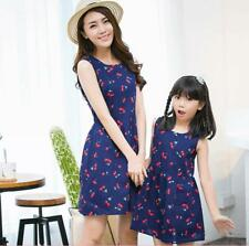 Mother Daughter Family Dresses Women Dress Girl Clothes Matching Outfit 2016