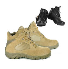 Mens Leather Military SWAT Tactical Combat Outdoor Desert Climbing Ankle Boots