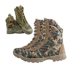 Mens Leather High Top Military Tactical Combat Outdoor Desert Climbing Boots