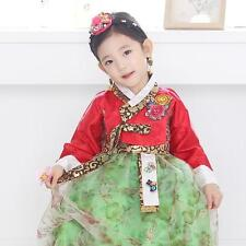 Hanbok Girl Korean traditional Dress Korea Baby 1st birthday Party Red Green