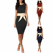 Women Elegant Bandage Bodycon Business Evening Cocktail Party Pencil Dress