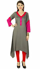 Indian Bollywood Kurta Women Ethnic Kurti Cotton Designer Top Tunic Dress