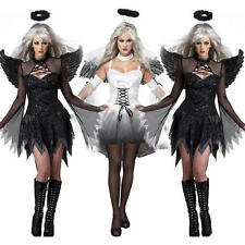 Sexy Womens Fallen Devil Dark Angel Halloween Fancy Dress Adult Costume Outfits
