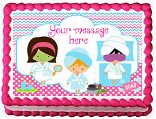 SPA PARTY Birthday Image Edible cake topper decoration