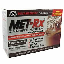 MET-RX MEAL REPLACEMENT DRINK MIX 40 PACKS MET RX DISCOUNTED ASPARTAME FREE BCAA