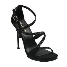 "FABULICIOUS CHIC24 Women's Sexy Closed Back T-Strap Sandal 4 1/2"" Stiletto Heel"