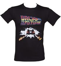 Official Men's Back To The Future Delorean Firetracks T-Shirt
