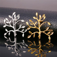 Gold Plated Tree Branch Brooch Pin Men Women Collar Brooch Pins Jewelry