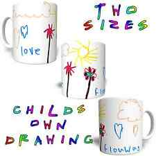 YOUR CHILDS DRAWING Printed On 11oz or 6oz Personalised Mug FREE DELIVERY