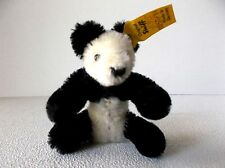 Steiff Rare Black and White 3 Inch Panda Bear; Made in Germany Tag 0250/11