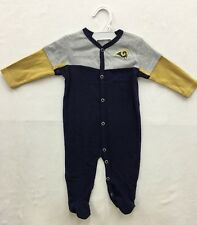 St. Louis Rams Team Apparel NFL Infant Snap Front Logo Footed Pajamas