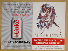 MADONNA MDNA TOUR ISRAEL DIET COKE SET OF 3 PROMO CARDS 2012 Hebrew