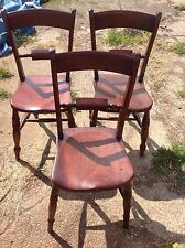 Genuine Victorian Farmhouse Kitchen Chairs
