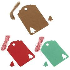 Lot of 100pcs Kraft Tags Present Gift Labels with Christmas Tree Blank Hang Tags