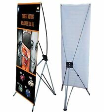 """X Banner Stand 24"""" x 63"""" Bag Trade Show Display Advertising sign Exhibition ksjg"""