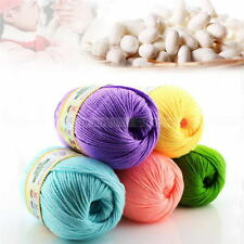 50g 1 Skein Natural Cotton Silk Baby Sweater Soft Yarn Knitting Hand Knitting