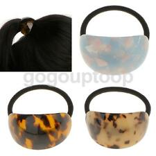 Simple Semicircle Leopard Print Elastic Hair Band Pony Holder Accessory 3Colors