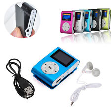 USB MP3 Music Clip Player Mini LCD Screen Support 32GB Micro SD TF Card Recharge