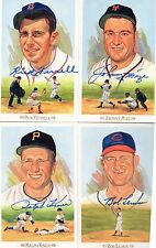 LOT OF 5 DECEASED BASEBALL HALL OF FAMERS SIGNED PEREZ-STEELE CELEBRATION CARDS